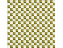 Мозаика шахматка белый-золото