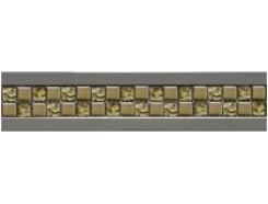 Фриз Ellite золото-золото рельефная 6,5 х 30