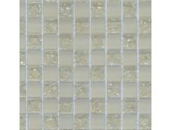 Мозаика шахматка беж матовый-беж колотый
