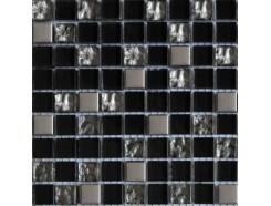 Мозаика (микс) черный-платина рифлена - платина