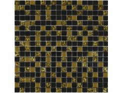 Мозаика (микс) черный-золото рифленое-золото
