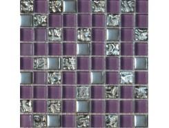Мозаика (микс) фиолетовый-платина рифленая-платина