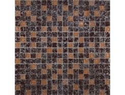 Мозаика микс коричневый колотый-бежевый колотый
