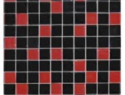 Мозаика микс красно-черный