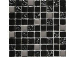 Мозика  (микс) черный-черный рифленый верх-платина