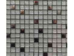 Мозаика микс металлик серебро