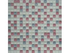Мозаика микс розовый-белый-серый