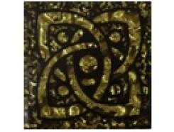 Тако напольная вставка Галактика золото рифл., 66*66*8