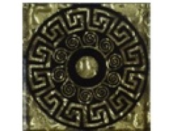 Тако напольная вставка Греция золото рифл., 66*66*8