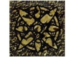 Тако напольная вставка Зірка золото рифл., 66*66*8
