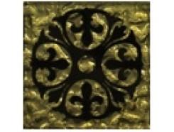 Тако напольная вставка Леано золото рифл., 66*66*8