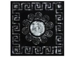 Тако напольная вставка Византия платина рифл., 66*66*8