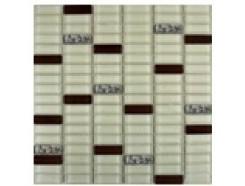 Мозаика микс охра-коричневый-платина рифл., 300 x 300