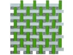Мозаика плетенка зеленая, 280 х 280