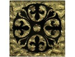 Тако напольная вставка Бутон золото рифл., 66*66*8