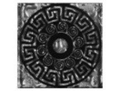 Тако напольная вставка Греция платина рифл., 66*66*8