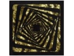 Тако напольная вставка Квадрат золото рифл., 66*66*8