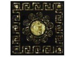 Тако напольная вставка Византия золото рифл., 66*66*8