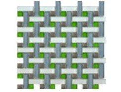 Мозаика плетенка серая, 280 х 280