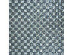Мозаика шахматка рельефная платина - рельефный серый
