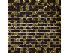 Мозаика(микс) шоколад - золото рифленое золото