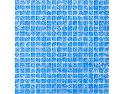 Мозаика моно голубой колотый