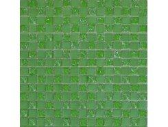 Мозаика шахматка зеленый матовый-зеленый колотый