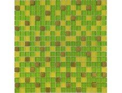Мозаика микс зеленый-желтый-золото