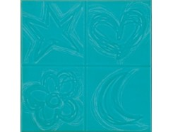 Декор (20x20) AGATHA CUATRO RELIEVE TURQUESA