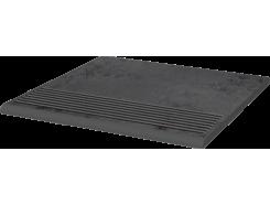Semir Grafit 30x30 рифленая прямая структурная ступень