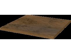 Semir Beige 30x30 рифленая прямая структурная ступень