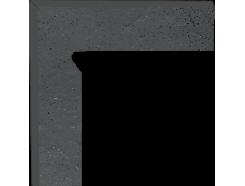 Semir Grafit 30x30 (2x30x8,1) плинтус двухэлементный лестничный левый