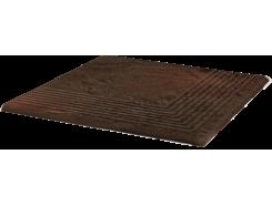 Semir Brown 30x30 Рифленая угловая структурная ступень