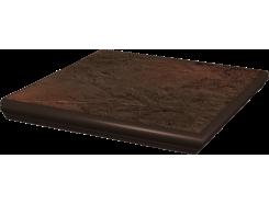Semir Brown 33x33 ступень с капиносом угловая структурная