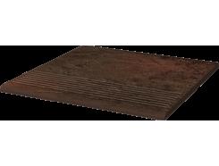 Semir Brown 30x30 рифленая прямая структурная ступень