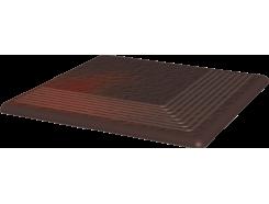 Cloud Brown Duro 30x30 рифленая угловая структурная ступень