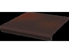 Cloud Brown Duro 33x33 Угловая структурная ступень с капиносом