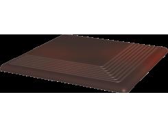 Cloud Brown 30x30 рифленая угловая гладкая ступень