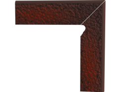 Cloud Brown Duro 30x30 (2x30x8) плинтус двухэлементный лестничный структурный правый