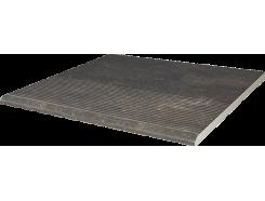Scandiano Brown 30x30 структурная ступень прямая