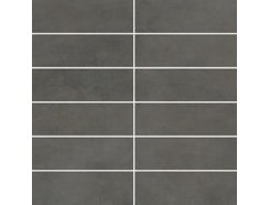 Tecniq Nero mozaika cięta (kostka 048x148) 29,8 x 29,8 półpoler