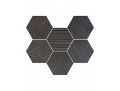 Horizon Black Hex Mozaika 28,9x22,1