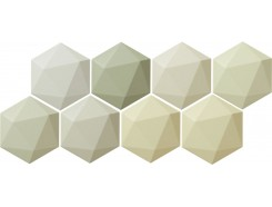 Origami green hex 11x12,5